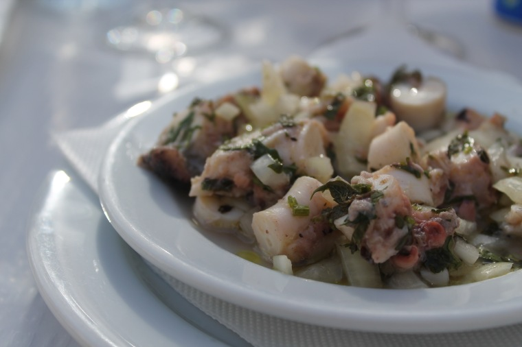 Portugal octopus ceviche