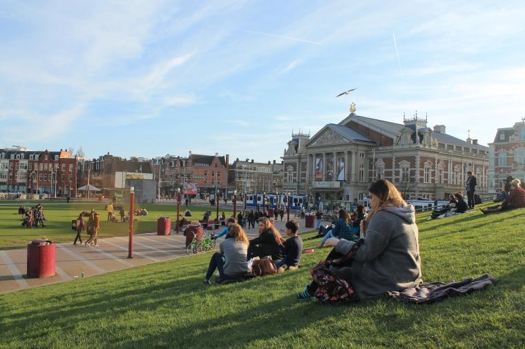 Vondelpark Amsterdam spring time
