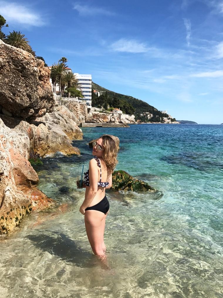 banje beach croatia blogger