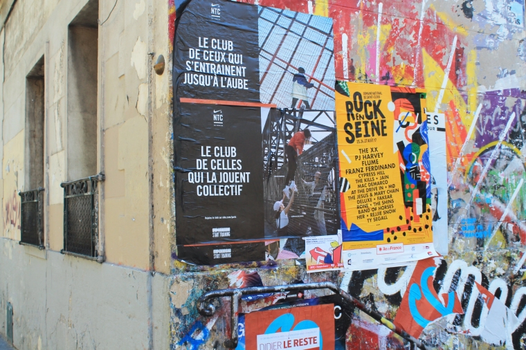 Paris street art posters
