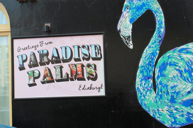 Edinburgh Paradise Palms street art