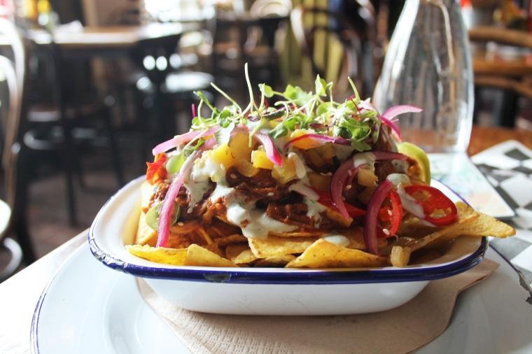Edinburgh vegan nachos